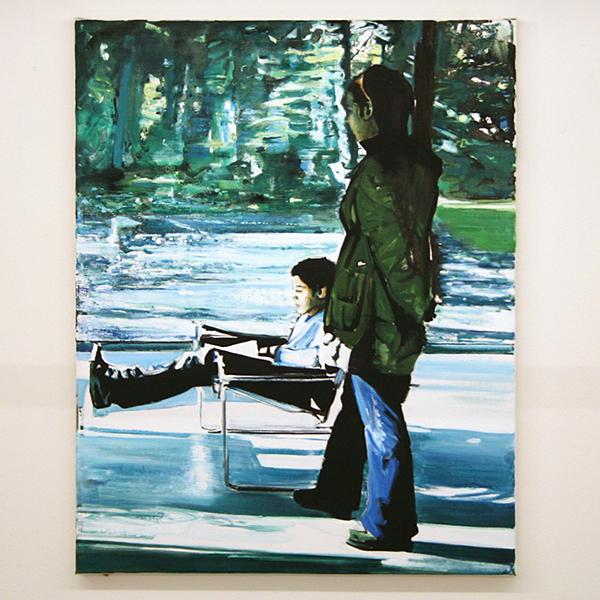 Koen Vermeule - Poem - 75x60cm Olieverf en acrylverf op canvas