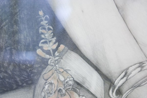 Koes Staassen - Creating an Idol II (FK July 16 2014) - 76x56cm Grafiet, gouache en zilverstift op parelmoer papier (detail)