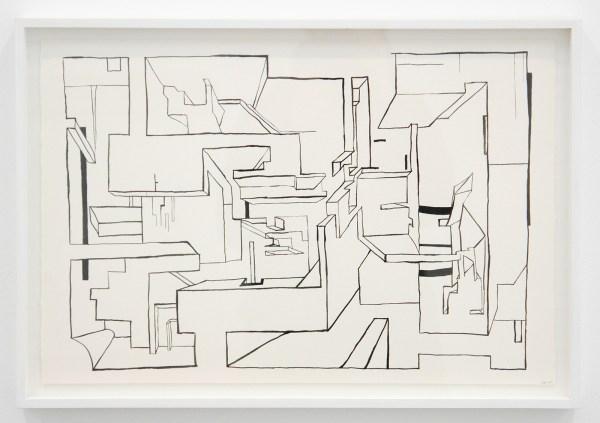 Krijn de Koning - Untitled - 38x56cm Inkt op papier
