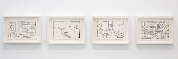 Krijn de Koning - Untitled & Untitled & Untitled & Untitled - 15x22cm Inkt op papier