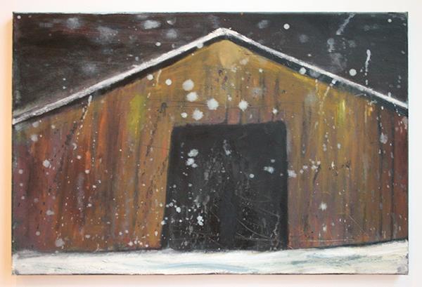 Lars Weller - The Barn - 40x60cm Olieverf op doek