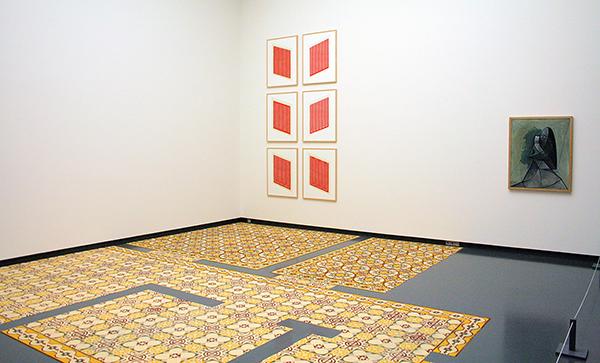Laurent Mareschal - Beiti (Mijn Huis) - Kruiden & Donald Judd - Untitled - Houtsnede op papier & Pablo Picasso - Buste de Femme (Vrouwbuste) - Olieverf op doek