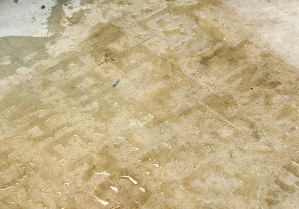 Lennart Lahuis - Wet Scene, study no V (sperate Lovers) - 580x145cm Water op vloer