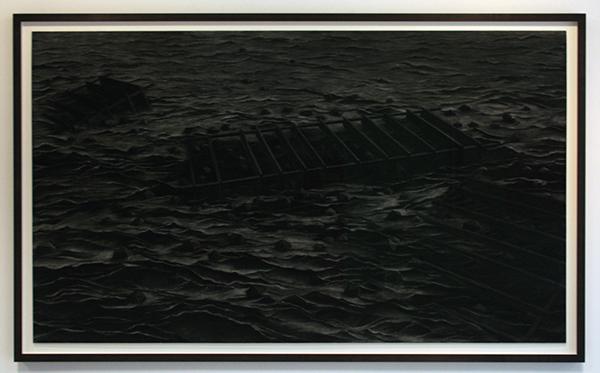 Levi van Veluw - Water - 205x120cm Houtskool op papier