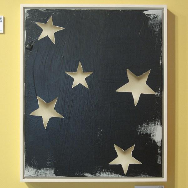 Lieven Hendriks - Untitled (stars) - Acrylverf op linnen (oplage 5) €1850,-