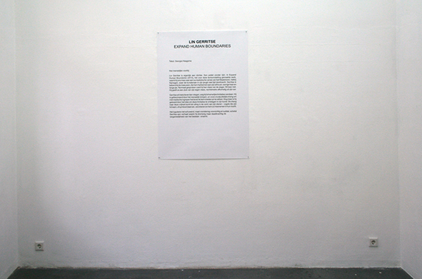 Leerling/Meester expo #11: Matthijs Bosman - Lin Gerritse – Expand Human Boundaries