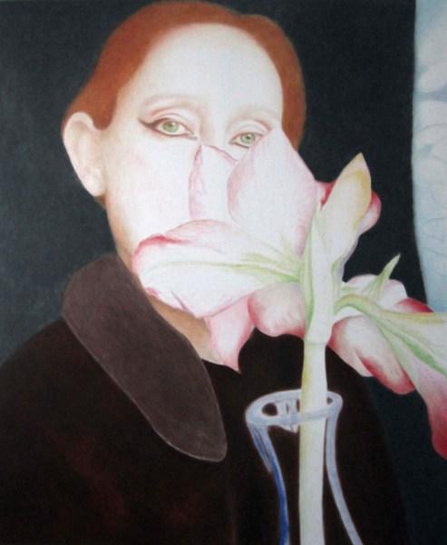 Lique Schoot - Zelfportret 09 01 12 - 150x180cm olieverf op doek, 2014