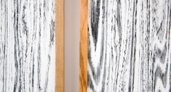 Lisa Oppenheim - Landschape Portraits (Olive) (Version I) - 102x65cm per deel, Twee gelatine fotogrammen in unieke lijsten (detail)