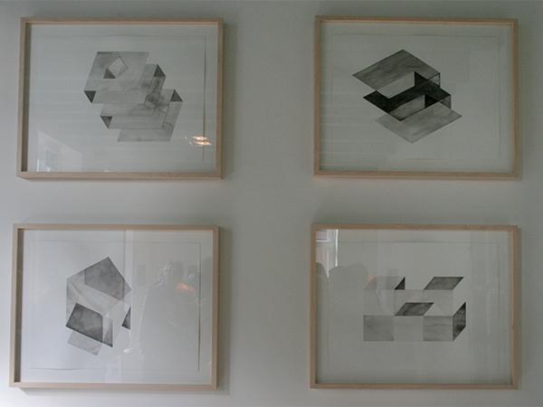 Loek Grootjans - Storage for Distorted Matter - 12 aquarellen, waarvan 9 Asylum for Vincent van Gogh