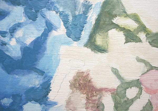 Luc Tuymans - Technicolor - 199x150cm Olieverf op canvas (detail)