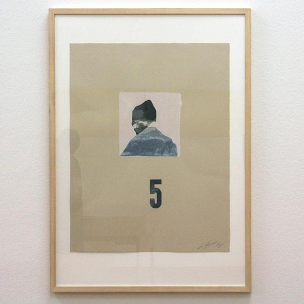 Luc Tuymans - Zelfportret - Zeefdruk in 14 kleuren op Somerset Velvet 250grm grouw houthoudend papier oplage 60 + 15 AP