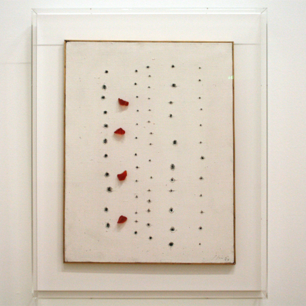 Lucio Fontana - Concetto Spaziale - Verf op doek