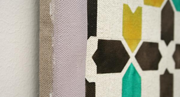 Lucy McKenzie - Alhambra Motifs I - Olieverf op doek (detail)