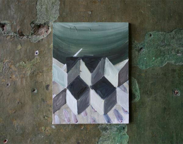 Machteld Solinger - Zonder Titel - 40x30cm Olieverf op doek