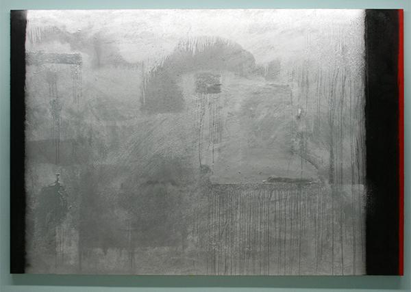 Marc Bijl - I Am Not Afraid Anymore - Hoogglansverf, epoxyhars, cement en spuitbus op doek