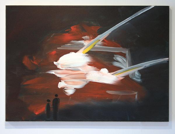 Marie Reintjes - Fire - 70x50cm Acrylverf op canvas
