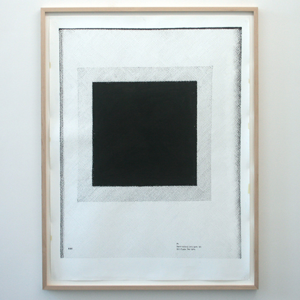 Marijn van Kreij - Untitled (Black Square, late 1920s) - 152x115cm Acrylverf op papier