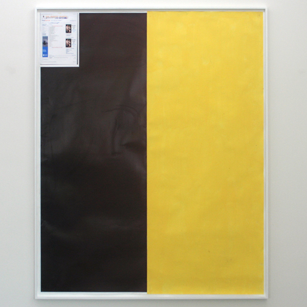 Marijn van Kreij - Untitled (Tags - Ah Yom, scan_19-04-2011, Yellow) - 210x166cm Collage, inktjetprint en gouache op papier