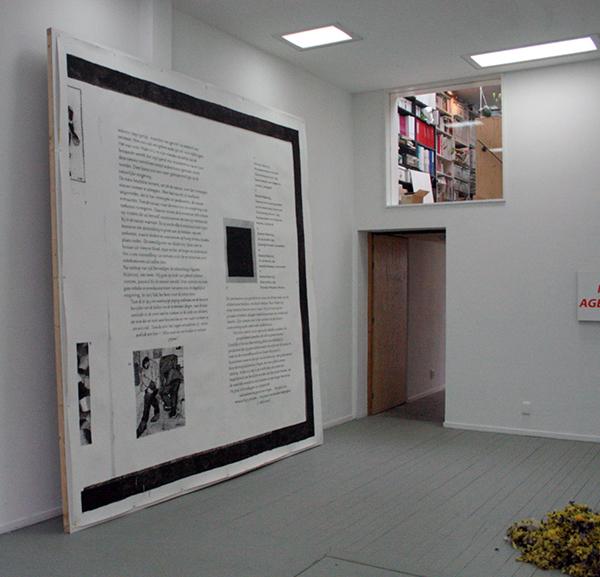 Marijn van Kreij - Untitled (Zwart vierkant, 1915) - 355x355cm Acrylverf op papier