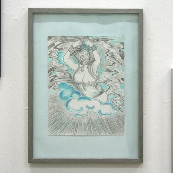 Marisa Rappard - Goddess - 33x25cm Potlood op gekleurd papier