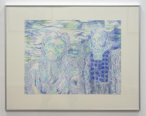 Marisa Rappard - Two Fugures - 50x65cm Potlood op papier