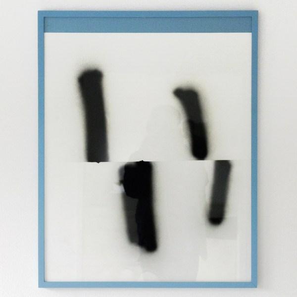 Marius Lut - Untitled - 87x69cm Spuitbus op papier