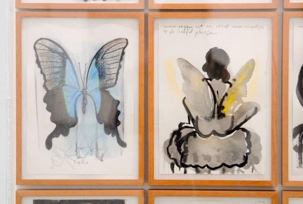 Marlene Dumas - Kunstproject De Halte - 28 aquarellen op papier en 2 olieverf op doek (detail)