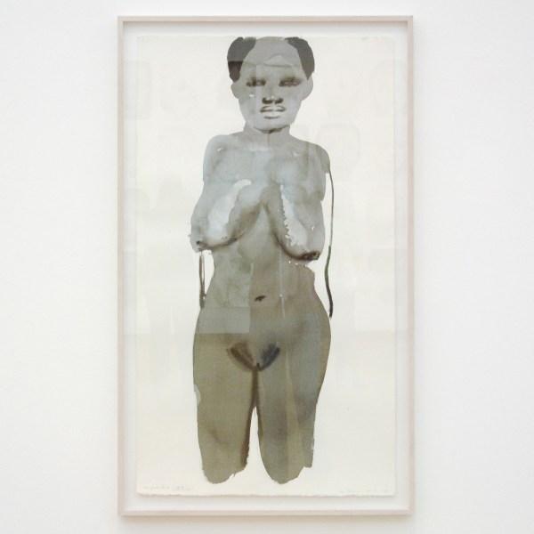 Marlene Dumas - Magdalena met de grote borsten - Inkt op papier, 1996