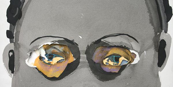 Marlene Dumas - Rejects - Verschillende technieken op papier (detail)