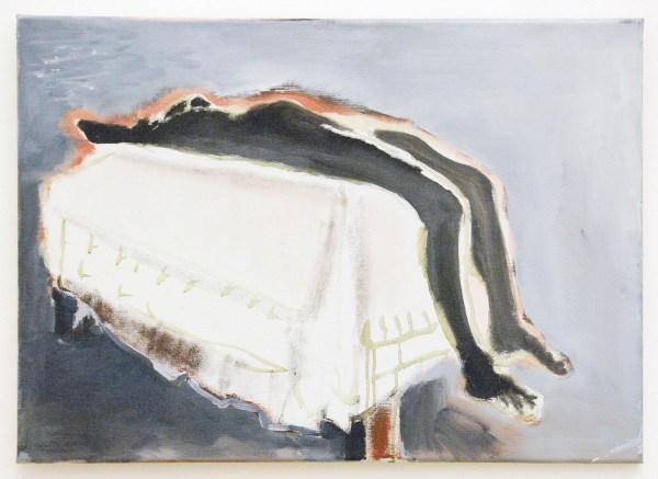 Marlene Dumas - Waiting (for Meaning) - Olieverf op doek, 1988