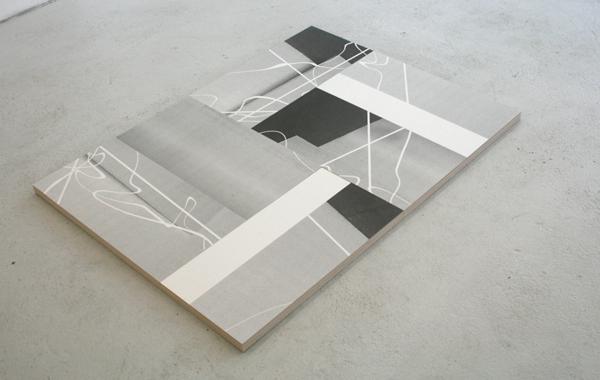 Martijn Hendriks - Ninth (Earth Speed) - 12x90x3cm UVinkt op zes keramische tegels