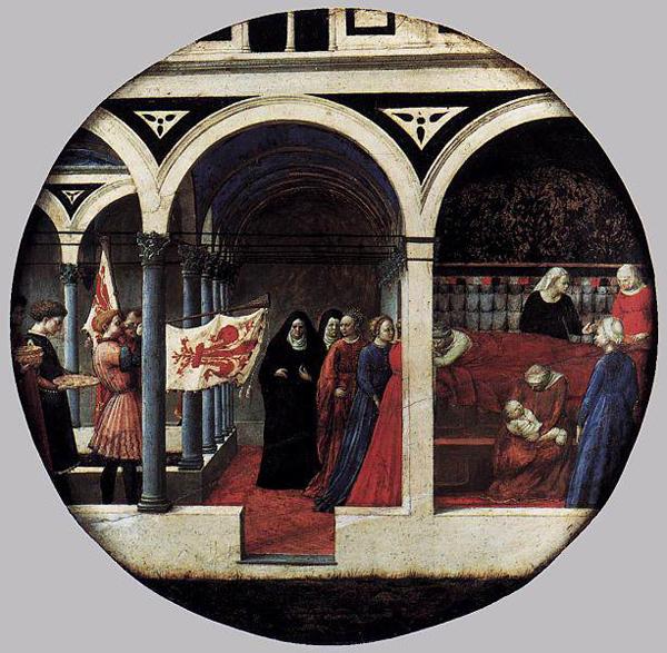Masaccio - Birth salver