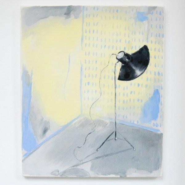 Micha Patiniott - Studiolight, Limelight - 47x56cm Olieverf op paneel