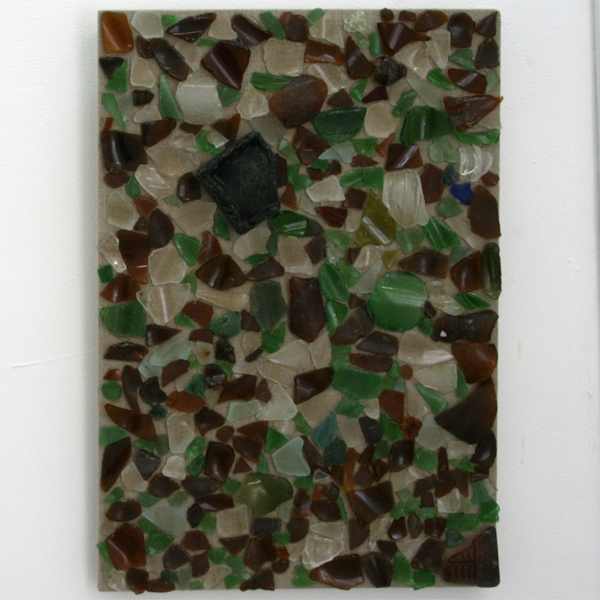 Michael James Jones - Glass Island - 30x45cm Glas op linnen