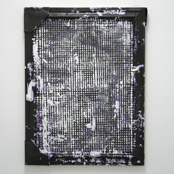 Michiel Ceulers - Back once again (forever) - 61x81cm Olieverf en spuitbus op gevonden raam en karton