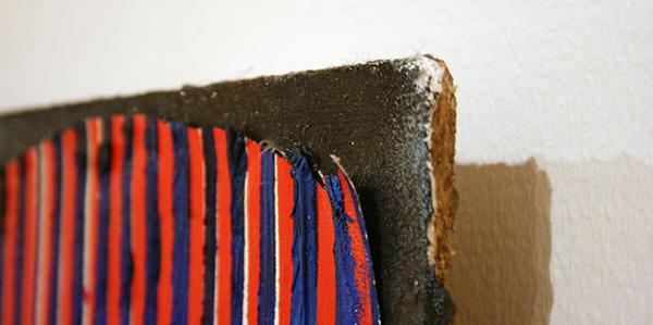 Michiel Ceulers - Flag Against Nature - Olieverf en spuitbus op doek en paneel (detail)