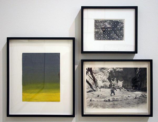 Mike Kelly - Ambergis Landscape - Acrylverf op papier & Fence Figure - zilvergelatinedruk, acrylverf en inkt & Monday Island (Los Angeles Zoo #1) - Zilvergelatinedruk