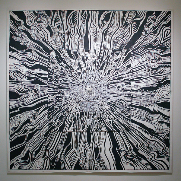Mike Kelly - Infinite Expansion - Acrylverf op papier
