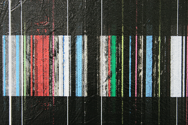 Mike Ottink - Field Effect - tweeluik, 100x70cm Inkt en acrylverf op canvas (detail)