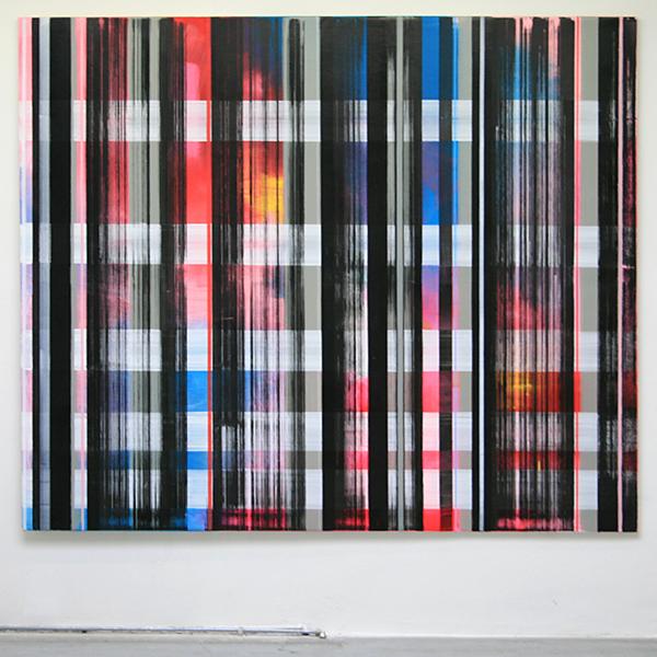 Mike Ottink - Rvspec - 240x200cm Inkt en acrylverf op canvas