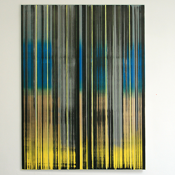 Mike Ottink - Terra Form Dawn - 200x150cm Inkt en acrylverf op canvas