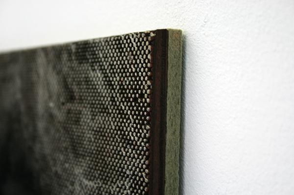 Navid Nuur - The Entrance (study) - 35x30cm Laser en handgesneden hout, houtvezel, olie en mineralen (detail)