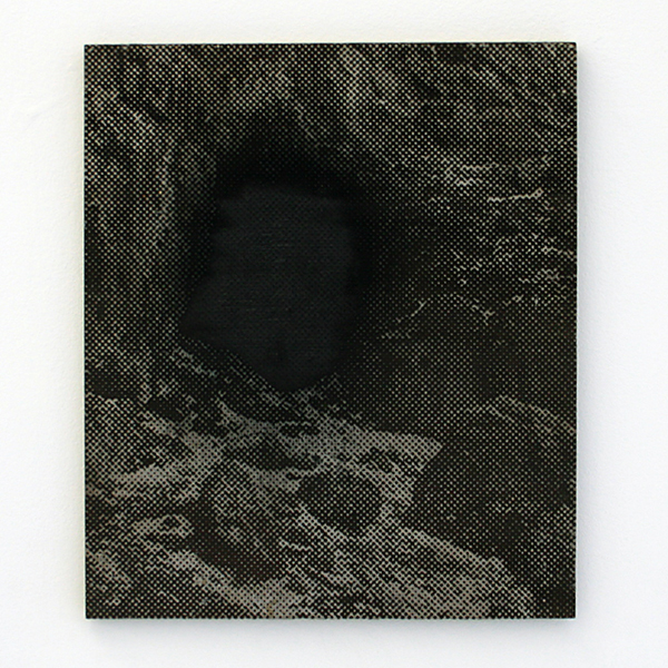 Navid Nuur - The Entrance (study) - 35x30cm Laser en handgesneden hout, houtvezel, olie en mineralen