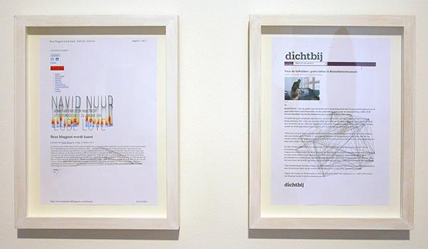 Navid Nuur - Where You End and I Begin - Laserprint en potlood op papier 2008-2013