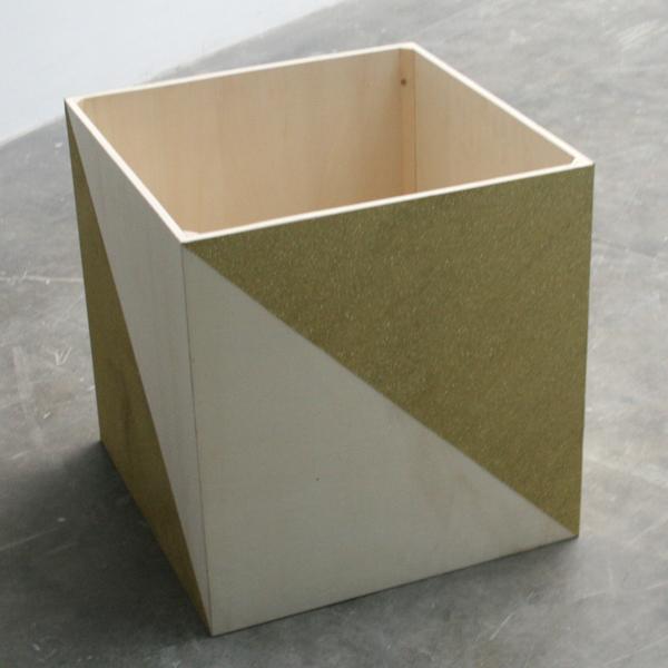 Nelleke Schiere - Gold is no blurr - Hout en goud papier
