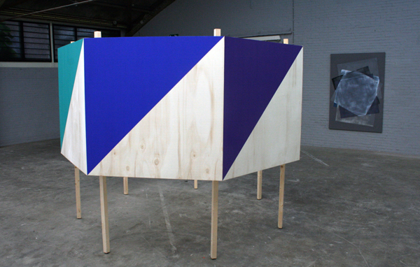 Nelleke Schiere - Prismatic Colored Landscape - Hout en acrylverf