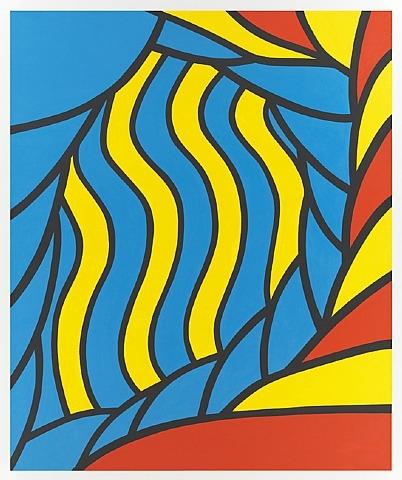 Nicholas Krushenick - Flying Circus - 213x178cm Acrylverf op canvas
