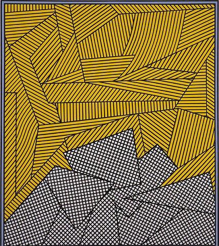 Nicholas Krushenick - Mango Madness - 60x54inch Acrylverf op linnen