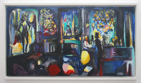 Nick Andrews - Wrong Place, Right Night - 125x65cm Acrylverf en Olieverf op doek, 2012