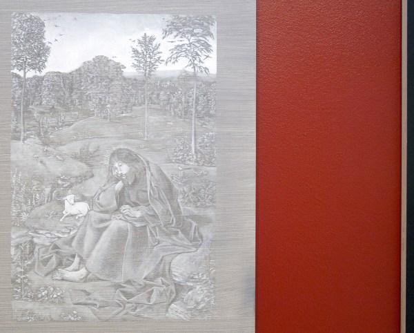 Niek Hendrix - John the Baptist in the Wilderness - 90x68cm Olieverf en potlood op paneel & Six - 51x68cm Olieverf op paneel (detail)